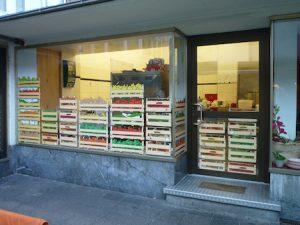 Fensterlayout für Geschäft.
